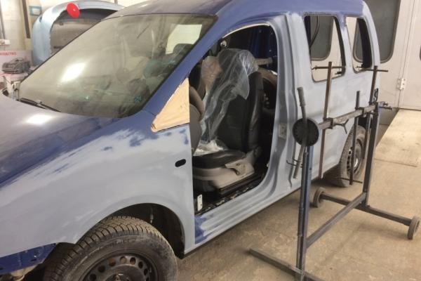 Подготовка к покраске кузова VW Caddy